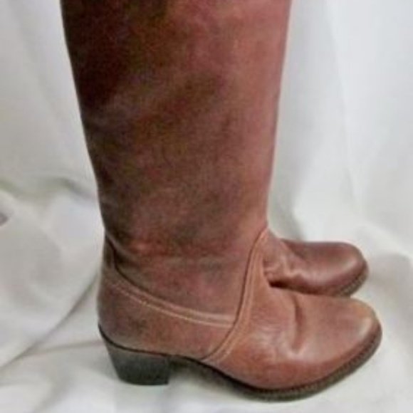 Frye Shoes - Womens FRYE 77595 JANE TALL CUFF BROWN LEATHER